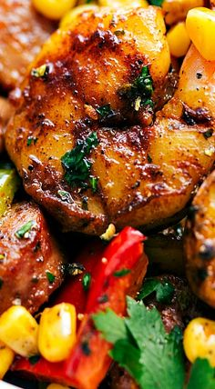 One Pan Garlic Herb Shrimp and Sausage
