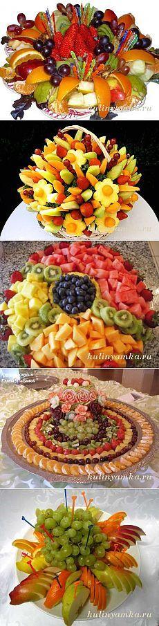 Beautiful fruit sliced \u200b\u200b- holiday table decoration