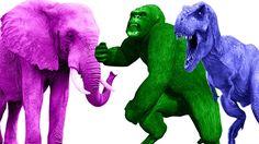Finger Family  Gorilla Vs  Dinosaurs | Gorilla Elephant Fight | Animals Finger Family Rhymes https://youtu.be/Nm9yve9H8Q8