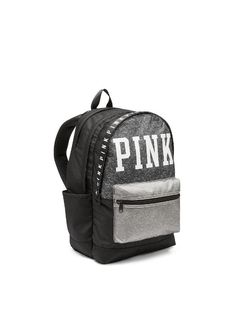 eed28f264fb5 Victoria s Secret Pink Campus Backpack New Style 2014 Dark Gray  Black