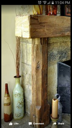 Fireplace mantle,love the corner piece