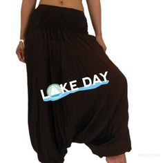 Black Aladdin pants Black color Aladdin  pants 95% modal 5% Lycra . Great for yoga or casual wear . 🔹Length :40 , inseam :29                                 🔹Have elastics at the bottom for extra support .                                                                   🔹One size fits upto size 16. No size tags for sizing . Please ask any Q u have before u buy . Pants