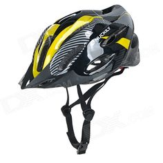 NUCKILY Bike Bicycle PC   EPS Safety Helmet for Cycling - Yellow (L) Price: $23.62