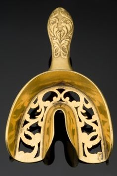 Dental impression tray, France, c. 1830-1850, bronze.
