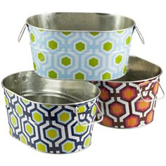 So cute!  Party tubs from The Container Store. $14.99