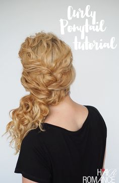 Curly girls, here's anothereasycurly hair tutorial that you can dress up or down.This simple side ponytail is easy enough to wear every day.