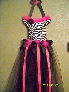 Zany zebra tutu bow holder