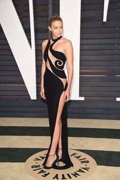 Gigi Hadid Dress at Oscars Afterparty 2015 | POPSUGAR Fashion - Gigi Hadid Skips Underwear at the Oscars Afterparty – Was It the Right Move?