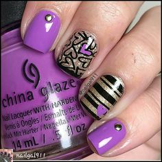 cool idea. black topped with silver & carve out the hearts