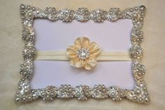 Little Pearl Bowtique: Little Pearl Products Custom Headbands, Baby Style, Pearls, Frame, How To Make, Products, Picture Frame, Frames, Beads