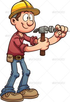 Hammering Nail by memoangeles Construction worker hammering a nail. Vector clip art illustration with simple gradients. All in a single layer. EPS10 file includ