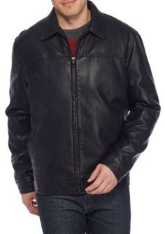 Tommy Hilfiger  Big  Tall Faux Leather Jacket