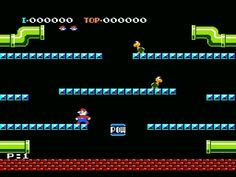 Nintendo: Mario Brothers (yes very cheesy game, but fun)