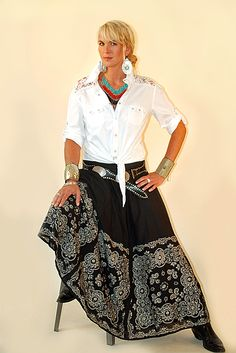 ❤ Cowgirls Tasha Polizzi Bandana Skirt