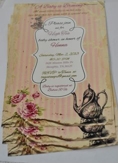 TurtleCraftyGirl: High Tea Baby Shower Invitations