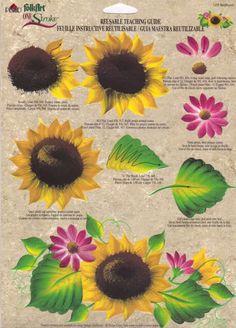 Sunflower paint pattern