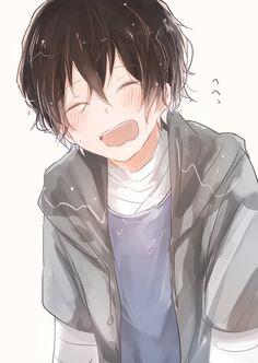 Dazai Osamu: don't be shy Anime Boy Smile, Anime Child, Hot Anime Boy, Cute Anime Guys, Anime Boys, Anime W, Sad Anime, Kawaii Anime, Dazai Bungou Stray Dogs