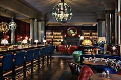 Rosewood London is an exclusive hotel in Holborn, the heart of London. Rosewood London hotel has luxurious rooms & suites, a spa, gym, hip bar & 2 restaurants. Bar Design, Design Hotel, Design Studio, Restaurant Design, Restaurant Interiors, Restaurant Lighting, Restaurant Ideas, Bar Lighting, Lebanon Restaurant