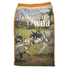 Taste of the Wild Puppy FormulaTaste of The Wild Puppy Formula is a combination of meat or fish and fruits and vegetables. This grain-free food is available in Roasted Bison and Venison and Smoked Sal...