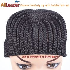 Own Factory Product Cornrow Wig Caps For Making Wigs Quality 1PC Black Color Freetress Braided Cap For Crochet Braid And Weaves