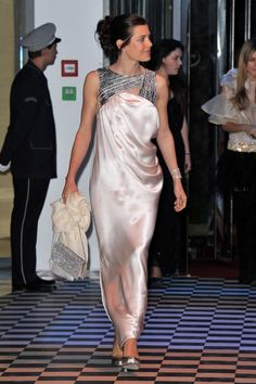 Charlotte Casiraghi |  Rose Ball 2010. Charlotte is wearing a Chanel Spring 2010 Haute Couture Floor-Length Dress.