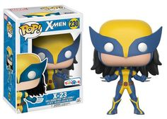 From X-Men it's in Funko Pop Vinyl US Toys R Us Exclusive limited edition or UK Exclusive available Product dimension: in windowed box Age Funko Pop Marvel, Marvel Pop Vinyl, Marvel X, Marvel Wolverine, Disney Marvel, X 23, Toys R Us, Kids Toys, Funko Pop Figures
