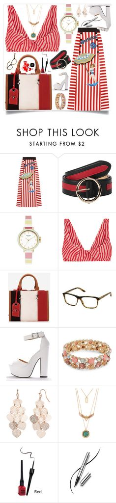 """""""Stripes on stripes"""" by eldinreham on Polyvore featuring Dolce&Gabbana, Kate Spade, Marni, Marc by Marc Jacobs, Design Lab, LC Lauren Conrad, Chanel, Chantecaille, stripesonstripes and PatternChallenge"""