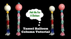 Tassel Balloon Decoration Tutorial by AMFAB! No helium required for this DIY!