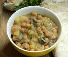 Zuppa di ceci funghi e patate…