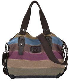 bfee0add94a Coofit Canvas Multicolor Shopper Tote Bolso de Mujer Bandolera