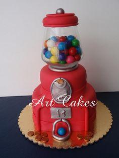 Bubblegum Machine Cake