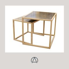 Brass Topped Nesting Tables- Price On Application Fine Furniture, Furniture Making, Modern Furniture, Furniture Design, Nesting Tables, Mortise And Tenon, African Design, Modern Table, Solid Oak