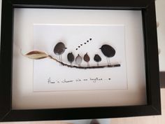 Home Is Wherever We Are Together Pebble Art by leeleefallsalot, €30.00