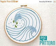 25% OFF Waves Embroidery Pattern Water Hand Embroidered Pattern Sea Needlework Tutorial DIY Hoop Art DIY Wall Art Mindfulness Craft Pr by OhSewBootiful #embroidery #etsy #etsyuk #gifts #giftsforher #homedecor #hoopart #fiberart #handembroidery #handmade #ohsewbootiful