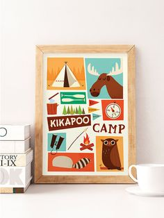 National parks Kids sleepover Kids camp Nursery print Art