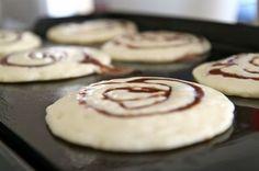 cinnamon roll pancake by loa.grati