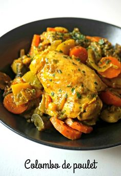 Huhn Colombo - erinnern Sie sich an Nahrung - Recettes salées à essayer - Abendessen Rezepte Spicy Dishes, Tasty Dishes, Food Dishes, Cooking Recipes, Healthy Recipes, International Recipes, Family Meals, Chicken Recipes, Healthy Chicken