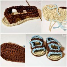 DIY : Crochet Baby Sandals | DIY & Crafts Tutorials