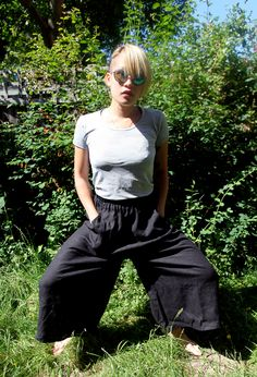 Black Linen Culottes Tutorial