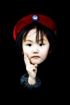 Japan little one with red hat