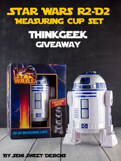 Enter to win a Star Wars R2-D2 measuring cup set from ThinkGeek. Details and entry form at Semi Sweet Designs. @SemiSweetMike