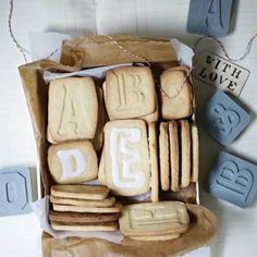 LETTER PRESSED Cookie Cutters from 2Shopper