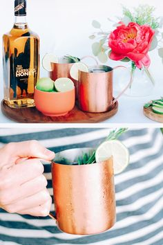 Fresh and easy Moscow Mule recipe made with Wild Turkey American Honey.