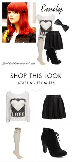 """Emily Fitch"" by sad-samantha ❤ liked on Polyvore featuring Bardot, Betsey Johnson and Seychelles"