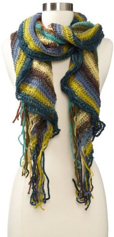 Amazon.com: collection eighteen Women's Striped Mohair Boa Cold Weather Scarf, Indian Green, One Size: Clothing