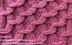(Hexagonal ) - Embossed Patterns - Free Knitting Patterns Tutorial - Watch Knitting - pattern 15