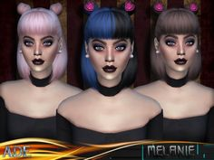 The Sims Resource: Ade - Melanie With Bang • Sims 4 Downloads