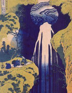 Hosukai: Amida Waterfall on the Kiso Highway, Japan