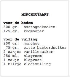 Recept monchoutaart