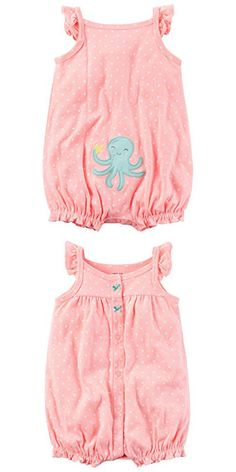 Carter's Baby Girls' Octopus Butt Creeper 24 Months